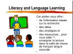 literacy and language learning