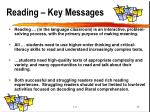 reading key messages