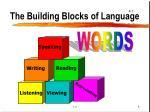 the building blocks of language