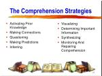 the comprehension strategies