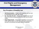 civil rights and emergency management11