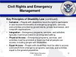 civil rights and emergency management12