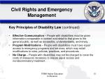 civil rights and emergency management13