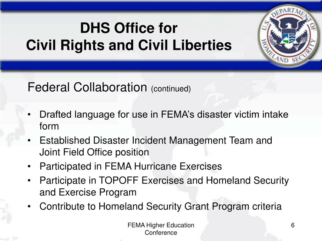 are civil liberties and homeland security opposing concepts in the united states Department of homeland security is referenced as dhs or the department office for civil rights and civil liberties airports around the united states.