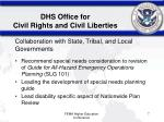 dhs office for civil rights and civil liberties7