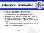 implications for higher education52