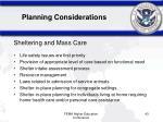 planning considerations43
