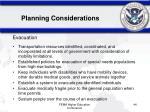planning considerations44