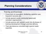 planning considerations48