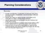 planning considerations49