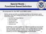 special needs functional based definition20