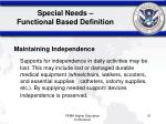 special needs functional based definition21