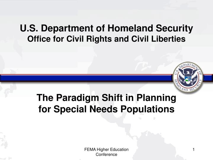 U s department of homeland security office for civil rights and civil liberties
