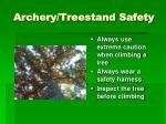 archery treestand safety