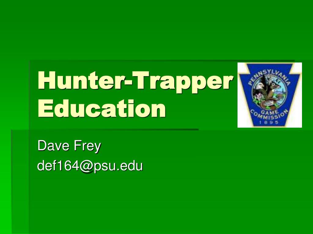 hunter trapper education l.