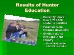 results of hunter education