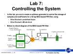 lab 7 controlling the system