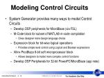 modeling control circuits