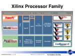 xilinx processor family