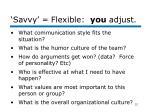 savvy flexible you adjust