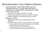 sim authentication in non telephony networks