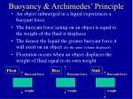 buoyancy archimedes principle
