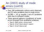 an 2003 study of mode errors cont d