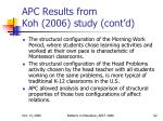 apc results from koh 2006 study cont d62