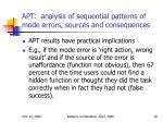 apt analysis of sequential patterns of mode errors sources and consequences28