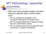 apt methodology sequential occurrence