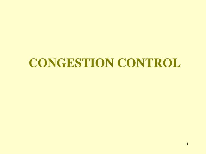 congestion control n.