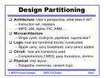 design partitioning