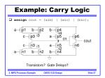 example carry logic27