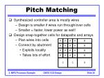pitch matching