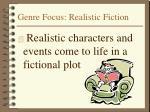 genre focus realistic fiction
