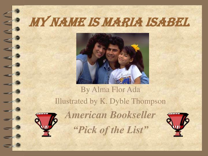 my name is maria isabel n.