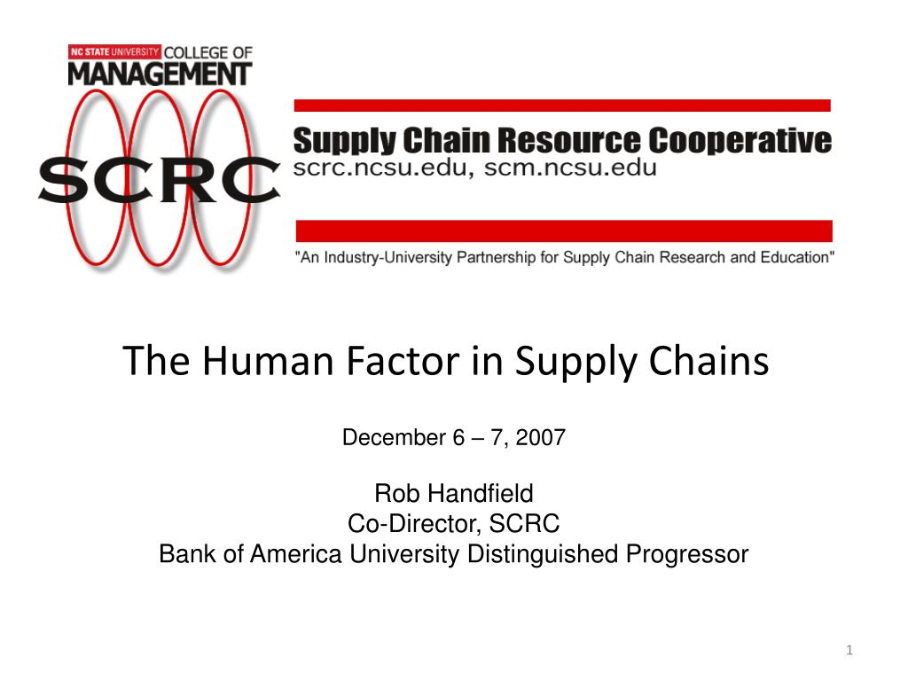 the human factor in supply chains l.