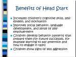 benefits of head start