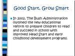good start grow smart