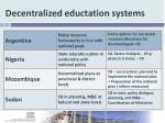 decentralized eductation systems