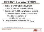digitize the waveform