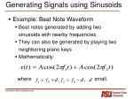 generating signals using sinusoids1