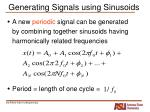 generating signals using sinusoids5