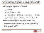 generating signals using sinusoids9