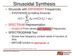 sinusoidal synthesis