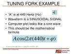 tuning fork example