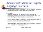 phonics instruction for english language learners