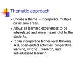thematic approach