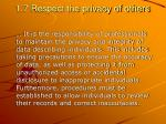1 7 respect the privacy of others