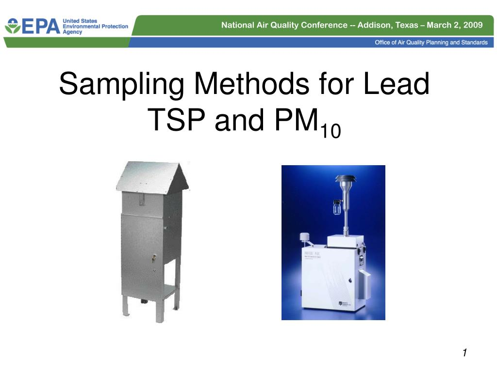 sampling methods for lead tsp and pm 10 l.